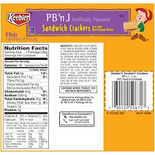 keebler pb u0027n j sandwich crackers 11 oz tray walmart com