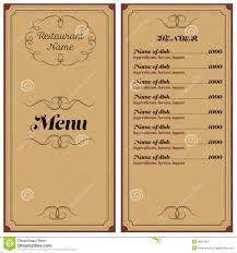 restaurant or cafe menu stock vector image 48867687