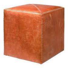 Orange Ottoman Vintage Used Orange Ottomans And Footstools Chairish