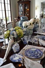 Best BLUE AND WHITE DINING ROOMS Images On Pinterest Blue And - Blue and white dining room