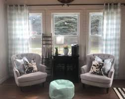 Teal Living Room Curtains Teal Curtains Etsy
