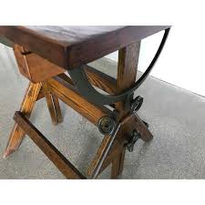 Drafting Table Antique 1920s Vintage Industrial Drafting Table Bar Table Writing Desk