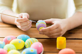 decorating easter eggs with permaset inks paints permaset