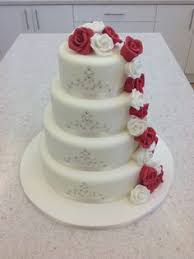 wedding cake liverpool 5 tier cascading roses coral and ivory www icequeencakes co uk