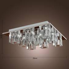 Home Ceiling Lighting Design Lightinthebox K9 Crystal Flush Mount With 9 Lights In Square