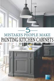 is it better to paint or spray kitchen cabinets painted furniture ideas 5 mistakes make when