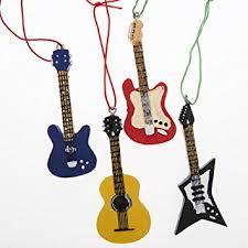 4 guitar tree ornaments home