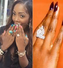 wedding rings nigeria magazine tiwa savage stops wearing wedding ring