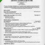Sample Artist Resume by Download Artist Resume Sample Haadyaooverbayresort Com