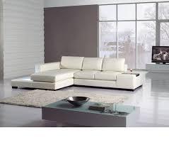 Mini Sectional Sofas Dreamfurniture Divani Casa T35 Mini Leather Sectional Sofa