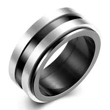 lord of the rings wedding band aliexpress buy one of power silver black tone finger spin