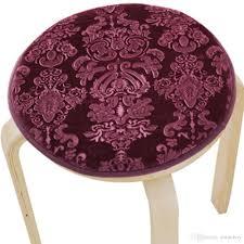 upscale velvet art round seat cushion round chair cushion baby