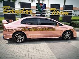 gold cars best quality flexible gloss chrome rose gold car vinyl wrap foil