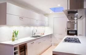 space saving ideas for small kitchens with lighting and white