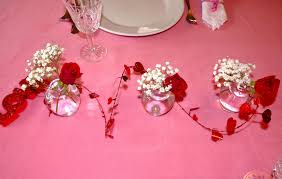 decorations lovely rose chain valentine centerpiece with pink