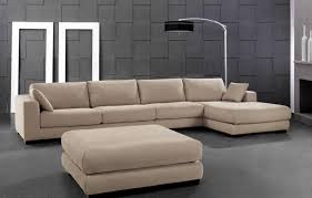 Curved Floor Lamp Furniture Modern Beige Fabric Sectional Sofas With Curved Floor