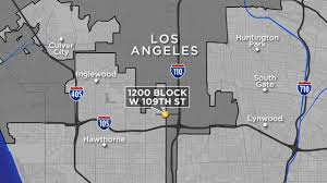Street Map Of Los Angeles by Gunman Fires Into Parked Car Killing Man Wounding Woman In South