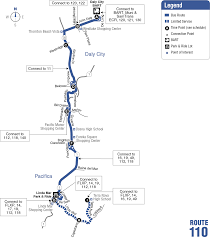 Bart Lines Map by Route 110