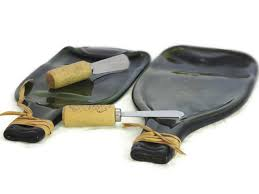 wine bottle platter melted wine bottle flat cheese platter kiln fused by rehabulous
