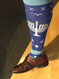 chanukah socks cantor seth ettinger on got my chanukah socks on and am