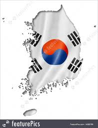 Flag Of South Korea Illustration Of South Korean Flag Map