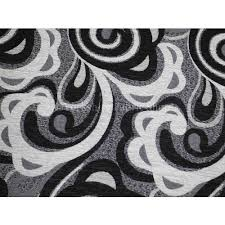 Funky Laminate Flooring Black White Thick Chenille Funky Floral Pattern Upholstery Fabric