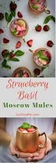 Party Pitcher Cocktails - strawberry basil moscow mules recipe pitcher drinks summer