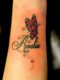 butterfly and with name my