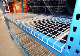 refurbished pallet rack with wire decking warehouse rack company