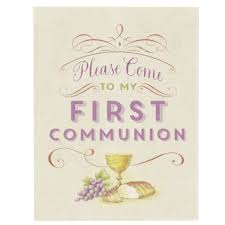 Holy Communion Invitation Cards Samples First Communion Invitation Card Set The Catholic Company