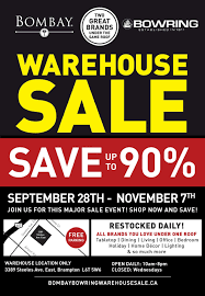 home decor warehouse sale bombay and bowring warehouse sale in brampton exp nov 7
