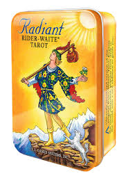radiant rider waite in a tin with book and keepsake tin amazon es