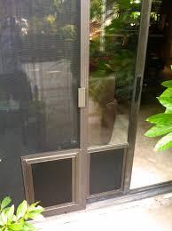 doggie door screen door