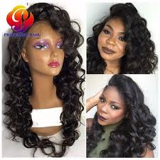 are there any full wigs made from human kinky hair that is styled in a two strand twist for black woman lace frontal wig with baby hairs cheap custom made human hair full