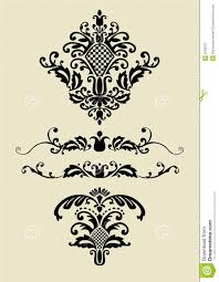 set of vector ornaments for design stock vector image 9708107