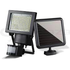 120 led solar sensor light outdoor security floodlights garden