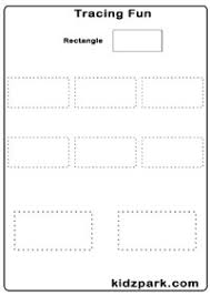 tracing shapes worksheets early teaching worksheets kindergarten
