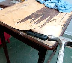 how to refinish veneer table 7 easy tips how to remove veneer salvaged inspirations