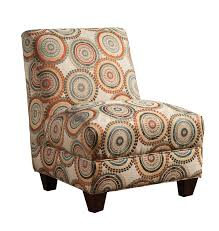 Orange Accent Chair Orange Patterned Accent Chairs Armless Design Circle Printed
