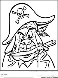 pirate coloring pages angry ginormasource kids