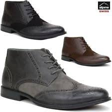 leather ankle boots for men ebay