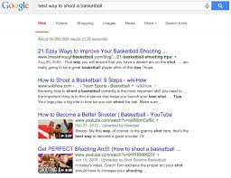 google search on best way to shoot a basketball video marketing