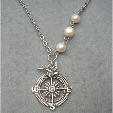 etsy necklace pearl images Best etsy compass necklace products on wanelo jpg