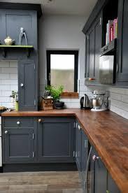 cuisine avec plan de travail en bois cuisine grise plan de travail bois on galerie avec deco plan de