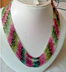 color beads necklace images 7 strand 3mm multi colour tourmaline beads necklace gleam jewels jpg