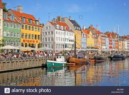 the canal in nyhavn copenhagen the old harbour quarter famous