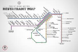 San Jose Zip Codes Map by Sf Muni Metro Restaurant Map Best Food Near Stops Thrillist