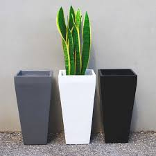 planters awesome tall metal planters tall metal planters