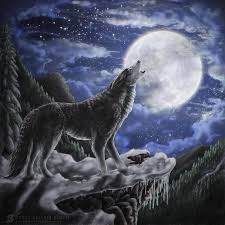 wolf moon by zaellrin on deviantart
