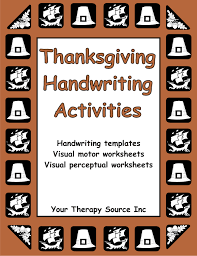 thanksgiving handwriting activities your therapy source